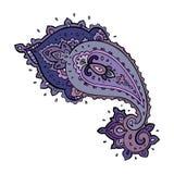 Paisley. Ethnic ornament. Vector illustration isolated. Paisley. Hand Drawn Boho ornament. Vector illustration Stock Photography