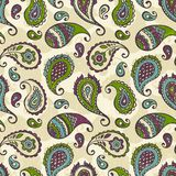 Paisley hand-drawn ornament. Royalty Free Stock Photos