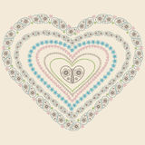 Paisley heart  frame set .Vector Oriental motif Stock Images