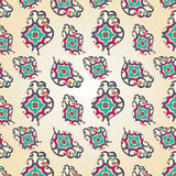 Paisley heart seamless pattern Stock Photography