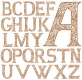 Paisley henna alphabet full. Isolated on white complete collection of henna letters decorated with detailed paisley ornament Royalty Free Stock Image