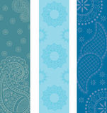 Paisley henna banners Stock Photos