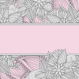 Paisley-Hintergrund mit Textbox Lizenzfreies Stockbild