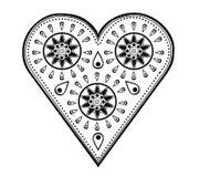 Paisley hjärtadesign Arkivbilder