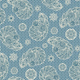 Paisley lace pattern. Abstract paisley ornament, lace texture, seamless pattern Stock Photography