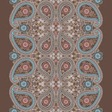 Paisley lace seamless border.Cute Vector oriental Royalty Free Stock Photos