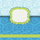 Paisley lice.Design template,envelop or card royalty free illustration