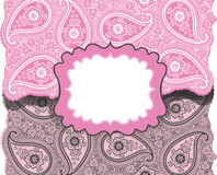 Paisley lice.Design template,envelop or card Royalty Free Stock Photography