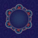 Paisley lice round ornamental  in Design template. Royalty Free Stock Images