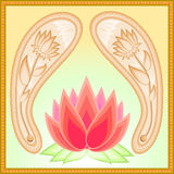 Paisley lotus theme Royalty Free Stock Images