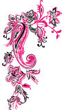 Paisley mehndi kwiecisty projekt Obrazy Royalty Free