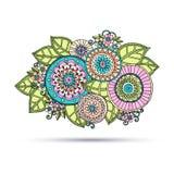 Paisley Mehndi scarabocchia il vettore floreale astratto Fotografia Stock