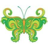 Paisley motyl. pociągany ręcznie ozdobna ilustracja Obrazy Royalty Free