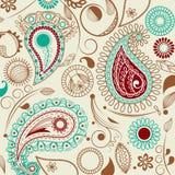 Paisley-Muster in der Retro- Art Lizenzfreie Stockbilder