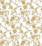 Paisley-nahtlose Blumenfarbdesign-Mustergrenze Lizenzfreie Stockfotografie