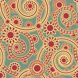 Paisley-nahtlose Verzierung Lizenzfreies Stockfoto