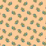 Paisley-nahtloses Blumenfarbdesignmuster Stockbild