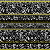 Paisley-nahtloses Blumenfarbdesignmuster Stockfoto