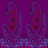 Paisley-nahtloses Blumenfarbdesignmuster Lizenzfreie Stockfotos