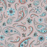 Paisley oriental floral pattern Royalty Free Stock Photo