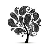 Paisley ornament, art tree, sketch for your design royalty free illustration