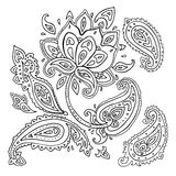 Hand Drawn Paisley ornament. Royalty Free Stock Photos