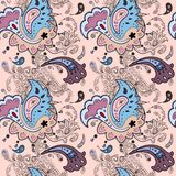 Paisley ornament  seamless background Royalty Free Stock Photos