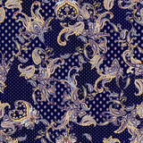 Paisley ornament seamless. Ornate scarf design.Abstract geometric pattern of paisley seamless. Traditional oriental ornament Stock Images