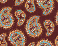 Paisley ornament seamless pattern Royalty Free Stock Image