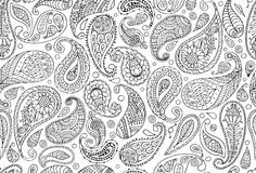 Paisley ornament, seamless pattern for your design Stock Photo