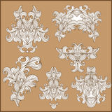 Paisley ornamental floral design on vintage background Stock Photos