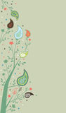 Paisley Page Decoration. Swirly background with paisley and floral elements Royalty Free Stock Photography