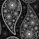 Paisley pattern. Seamless  background Royalty Free Stock Photo