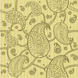 Paisley pattern. The seamless background Royalty Free Stock Photo