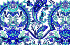 Paisley pattern. Abstract geometric paisley pattern. Traditional oriental ornament. Vibrant colors on white background. Textile design vector illustration