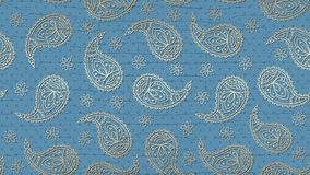 A paisley pattern background with a grunge effect royalty free illustration