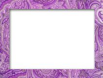 Paisley pattern border frame royalty free stock photography