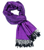 Paisley pattern cashmere scarf Royalty Free Stock Photography