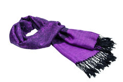 Paisley pattern cashmere scarf Royalty Free Stock Images
