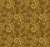 Paisley pattern decorated with flowers Royalty Free Stock Photos