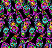Paisley pattern with detailed oriental symbol. Seamless amazing paisley pattern. artistic bohemian paisley illustration in a elegant colorful design. boho Royalty Free Stock Photo