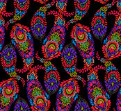 Paisley pattern with detailed oriental symbol. Seamless amazing paisley pattern. artistic bohemian paisley illustration in a elegant colorful design. boho Stock Photography