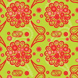 Paisley pattern with flowers Royalty Free Stock Image