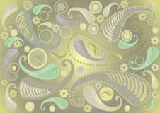 Paisley pattern on light green background. Royalty Free Stock Photos