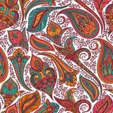 Paisley pattern. Paisley seamless fabric background pattern. Decorative vector illustration Royalty Free Stock Photos