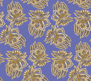 Paisley pattern. Paisley seamless ornament on blue background Vector Illustration