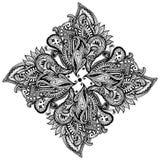 Paisley pattern. In shape of mandala vector illustration