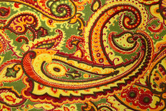 Paisley pattern silk fabric background Royalty Free Stock Photos