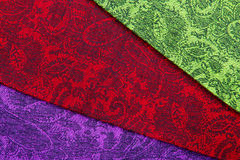 Paisley pattern textile Stock Images