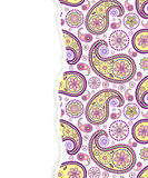 Paisley pattern with torn paper Stock Photos